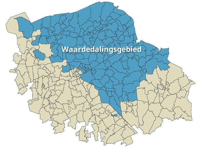 Kaart Waardedalingsgebied