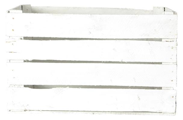Transporterkrat Retro white wooden