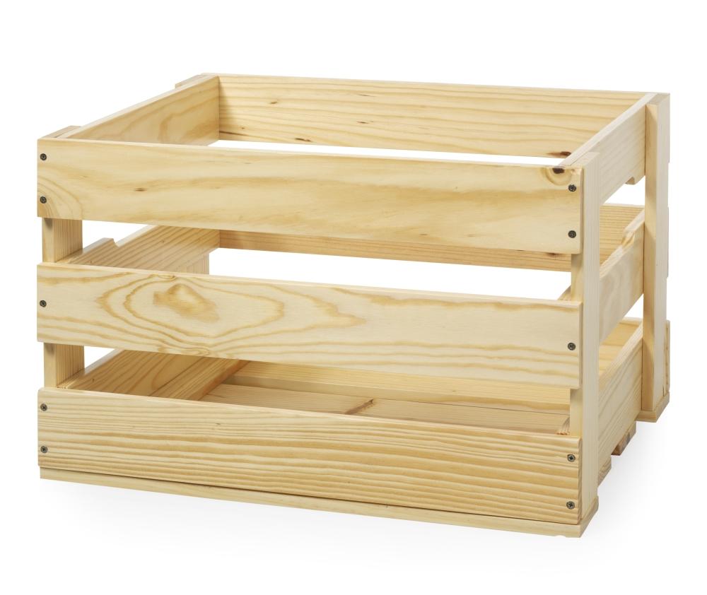 Grote houten krat