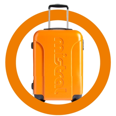 maak kans op een oranje Mistral koffer!