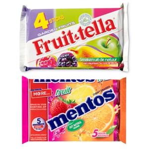 Mentos of Fruittella snoeprollen