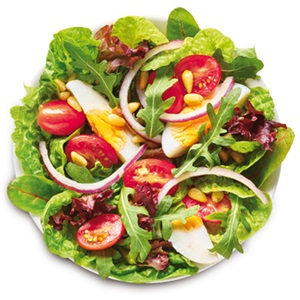 salade erbij