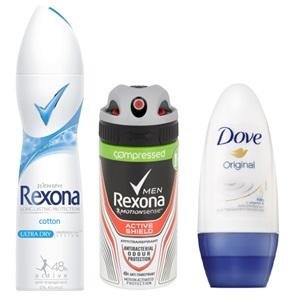 Rexona of Dove deodorant