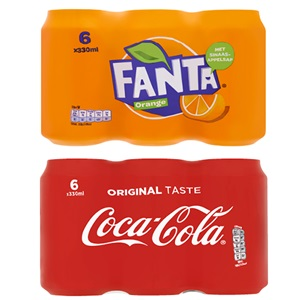 Coca-Cola of Fanta