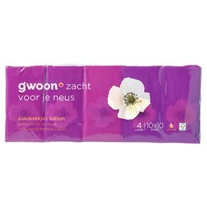 g'woon zakdoekjes lotion