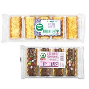 SPAR crème brulée koekjes, deugnietjes, kano's of bokkenpootjes