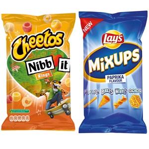Cheetos, Lay's mama mia's, pomtips of mixups