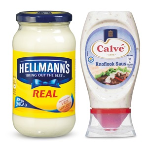 Calvé of Hellmann's sauzen, dressings of saladeversierders
