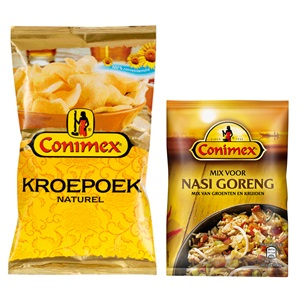 Conimex kroepoek, boemboe of curry