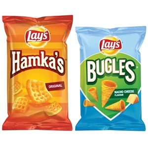 Doritos, Lay's Hamka's, Wokkels of Bugles