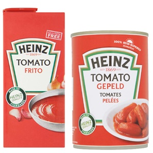 Heinz basis tomatenproducten