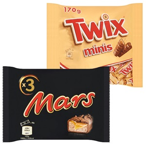 Mars, Snickers, Twix of M&M's