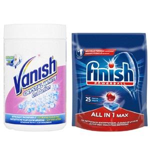 Vanish poeder of Finish vaatwastabletten