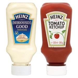 Heinz mayonaise, ketchup of Wijko satésaus