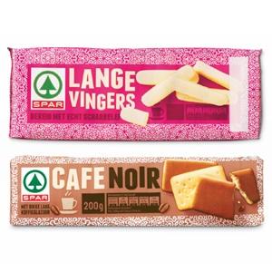 SPAR lange vingers of café noir