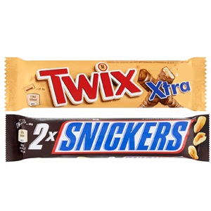 Mars, Snickers, Twix & Bounty Candybars Kingsize