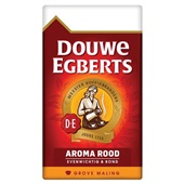 Douwe Egberts grove maling filterkoffie aroma rood