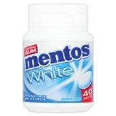 Mentos Gum White Sweet Mint, Pot 40 Gums