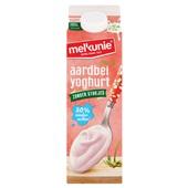 Melkunie Magere Yoghurt Aardbei zonder stukjes