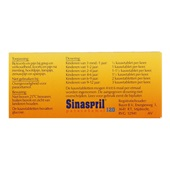 Sinaspril Paracetamol achterkant