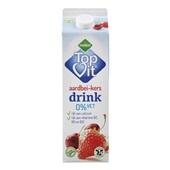 Melkan 0% Vet Drinkyoghurt Aardbei/Kers