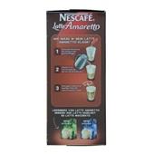 Nescafé Oploskoffie Latte Amaretto achterkant