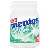 Mentos Kauwgom Gum White Green Mint, Pot 40 Gums