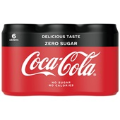 Coca Cola zero blik 6x33 cl