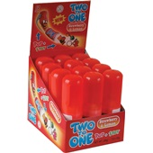 Two To One Lolly Strawberry/Lemon