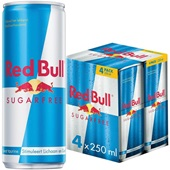 Red Bull Energiedrank Sugar Free 4X25CL
