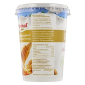 Almhof Roomyoghurt Walnoot/Honing achterkant