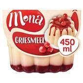 Mona Griesmeelpudding Met rode bessensaus