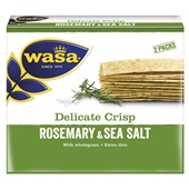 Wasa Delicate Thin Crackers Rosemary voorkant