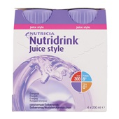 Nutricia Juice Style Cassis 4x200 ml