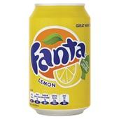 Fanta Frisdrank Lemon Blik 33cl voorkant