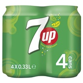7-Up regular blik 4x33cl voorkant