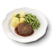 Culivers (4) rundertartaartje met jus, sperziebonen en gekookte aardappelen