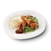 Culivers (28) drumsticks in ketjapsaus met sperziebonenen en witte rijst