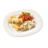 Culivers (31) kipfiletstukjes in pestosaus, Toscaanse groentemix en cannelloni.