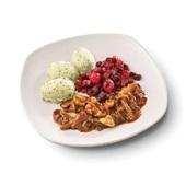 Culivers (68) hachee van paddenstoelen, rode bietjes met zilveruitjes en aardappelpuree met tuinkruiden