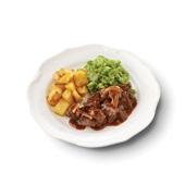 Culivers (81) Limburgs zuurvlees met snijbonen en gebakken aardappeltjes zoutarm
