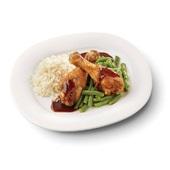 Culivers (98) drumsticks in ketjapsaus met sperziebonenen en witte rijst zoutarm