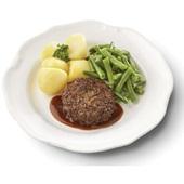 Culivers (1) rundertartaartje met jus, sperziebonen en gekookte aardappelen gluten- en lactosevrij
