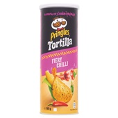 Pringles tortilla chips spicy chili