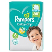 Pampers Baby Dry Luiers 6 Extra Large