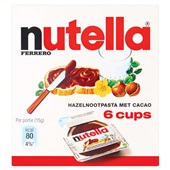 Nutella Hazelnootpasta Cups