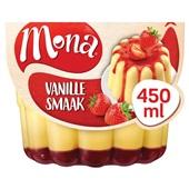 Mona Pudding Vanille Met Aardbeiensaus