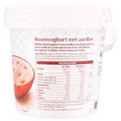 Melkan Roomyoghurt Aardbei achterkant