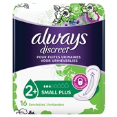 Always Discreet Incontinentie Verband Small Plus