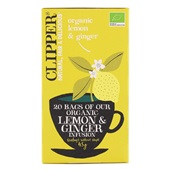 Clipper Thee Organic Lemon & Ginger Infusion Tea